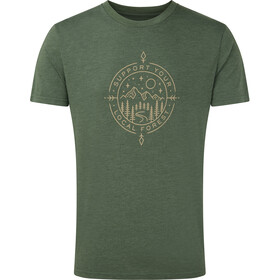 tentree Support Classic Camiseta Hombre, forest green heather